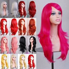 Synthetic Long Layer Full Wigs Straight Cosplay Party Costume Fancy Dress Silky