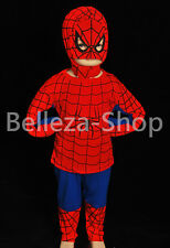 Superhero Spiderman Kid Cosplay Costume Outfit HALLOWEEN Party Size 2T-7 FC005
