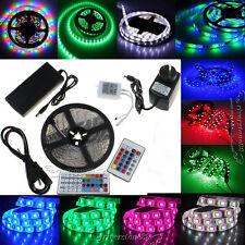5M 300/150/600leds RGB 5050 3528 5050 3014 Strip LED Strip Light Power Key Xmas