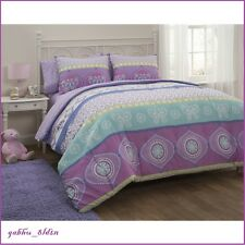 Turquoise Lavender Lime Comforter Set Sheet Set Butterfly Princess 5/7PC Bedding