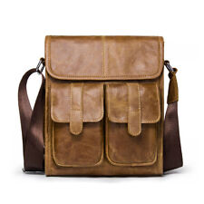 Men's Genuine Leather Vintage Crossbody Shoulder Messenger Bag