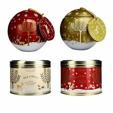 Gold or Red Christmas Scented Candle Bauble Gift Set Wax Lyrical (1 Supplied)