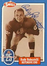 Andy Robustelli Signed Swell Card Autographed Rams Giants