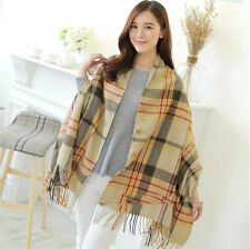 Ladies Pashmina Winter Scarf buckle Cashmere Long Scarf Wrap Shawl tassel Scarf