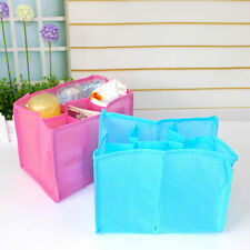 Baby Organizer Bag Portable Diaper Nappy Bottle Changing Divider Storage DEaH