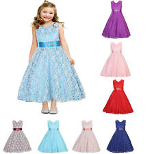 Girls Kids Pageant Ball Gown Princess Party Evening Prom Bridesmaid Dress Gift