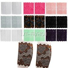 Women's Stretchy Lace Boot Cuffs Scroll Flower Leg Warmers Trim Toppers Socks