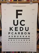 F*CKED UP CARBONAS CONCERT POSTER by Henry Owings Edn of 50