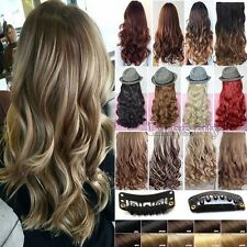 100% Real NEW Clip In human Hair Extension 3/4 Full Head Extension Synthetic h63