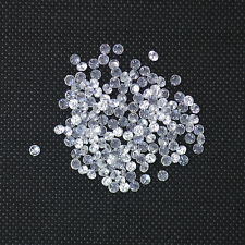 Wholesale White Round Cubic Zirconia Stone Loose 3mm 100-1000pcs A LOT