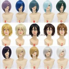 Short Wig Curly Cosplay Costume Party Fancy Dress Halloween Adjustable Size Pink