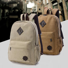 New Canvas Men's Vintage Backpack Rucksack Laptop Shoulder Travel Camping Bag