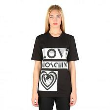 Love Moschino Clothing Women T-shirts Black 74770 Outlet BDX