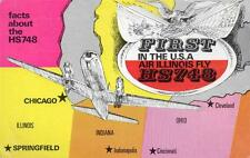 Ephemera,First Flight of HS748 in USA with Air Illinois 1973, Hawker Siddeley Co