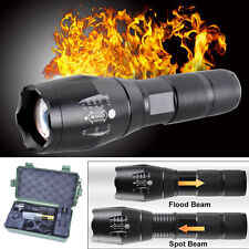 Zoomable 5000LM XML T6 LED Tactical Flashlight Torch Charger Battery Holder