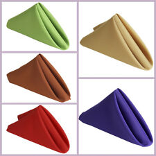"""75 pcs 17"""" Polyester Napkins Wedding Table Top Supply Wholesale Decorations"""