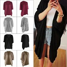 Women's Batwing Top Poncho Knit Cape Cardigan Coat Knitwear Sweater Jacket NEW