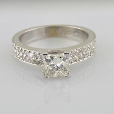EGL Certified Diamond Bridal Ring 1.55 Carat Princess and Round Cut