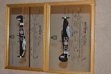 Signed Spitfire and Hurricane Battle of Britain mirrors