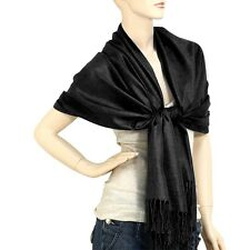 Pashmina Shawl 54 SOLID COLORS Silk Scarf Womens Wrap Classic Soft Cashmere Wool