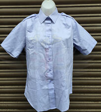 ROYAL AIR FORCE LADIES RAF BLUE POLYCOTTON SHORT SLEEVED SHIRT-GOODWOOD,REVIVAL