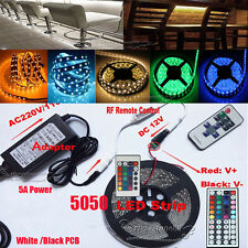 5M/10M 20M LED RGB 5050 Flexible Strip String Light(Remote+Power)For  Xmas Decor