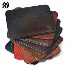 Men's Women's Genuine Leather RFID Wallet Coin Money Credit ID Card Holder Case