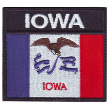 IOWA BADGE FLAG EMBROIDERED  PATCH