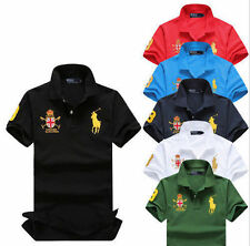 Slim Fit Men's Sports Polo short sleeve Casual Shirt T-shirtsTops size s -6xl