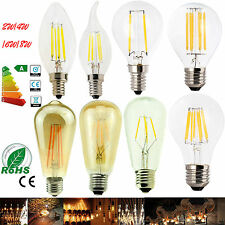 Dimmable E12 E27 E14 2/4/6/8W LED Bulb Light Edison Retro Vintage Filament Lamps