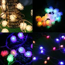 LED Battery Operated Pine Cone Snowflake String Lights Xmas Wedding Garden Decor