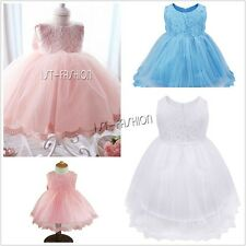 Flower Girl Dress Infant Baby Toddler Princess Rose Dress Wedding Party Pageant