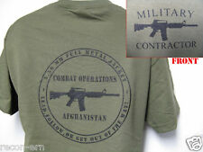 PRIVATE MILITARY CONTRACTOR T-SHIRT/ AFGHANISTAN SHIRT