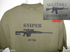 PRIVATE MILITARY CONTRACTOR T-SHIRT/ .50 CAL SNIPER