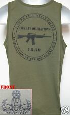 MASTER EOD OD GREEN TANK TOP/ no text/ MILITARY/ IRAQ COMBAT OPS/ NEW