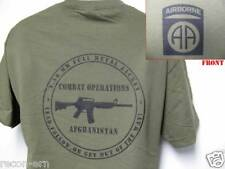82ND AIRBORNE T-SHIRT/ AFGHANISTAN COMBAT OPS T-SHIRT