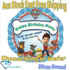 20cm Round Paw Patrol Edible Image Icing or Wafer Cake Topper Kids Birthday
