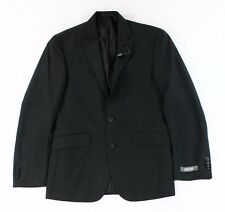 Kenneth Cole Reaction NEW Black Mens US Size 36 Grid Knit Two Button Blazer $94