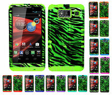 KoolKase Hybrid Cover Case for Motorola Droid Razr Maxx HD XT926m - ZEBRA GREEN