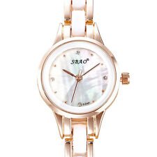 Women Fashion Analog Quartz Crystal Sport Date Dress Stainless Steel Wrist Watch