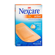 Nexcare Bandages Active Extra Cushion Knee And Elbow 8