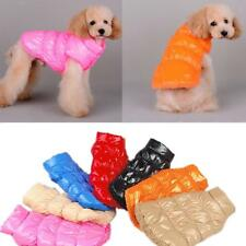 Pet Dog Puppy Warm Fleece Padded Coat Down Jacket Jumpsuit Vest Clothes Apparel