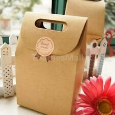 5PcsPortable Kraft Brown Paper Candy Cake Wedding Christmas Party Gift Favor Bag