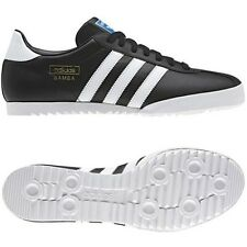 ADIDAS ORIGINALS BAMBA TRAINERS BLACK SHOES SIZES 7 - 12 NEW LEATHER SNEAKERS