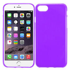 Purple Frosted Candy Skin TPU Gel Cover Protector Phone Case For Apple iPhone 7