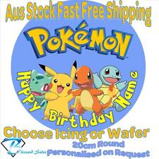 20cm Round Pokemon Go Edible Image Icing or Wafer Cake Topper Kids Birthday