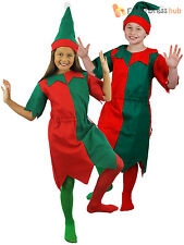 Childs Christmas Elf Costume Boys Girls Santas Helper Fancy Dress Xmas Outfit