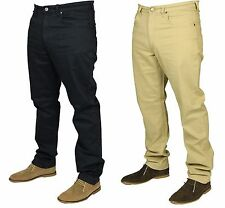MENS LEE JEANS BROOKLYN STRAIGHT LEG REGULAR FIT DESIGNER NAVY BEIGE 30 TO 44