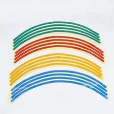 16 Strips 17Inch Car Motorcycle Wheel Rim Reflective Stripe Tape Decal Stickers