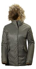 Helly Hansen W Hilton 2 Parka Jacket Olive Night NEW